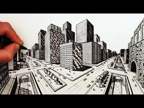 Drawn skyscraper Narrated Draw How Perspective A
