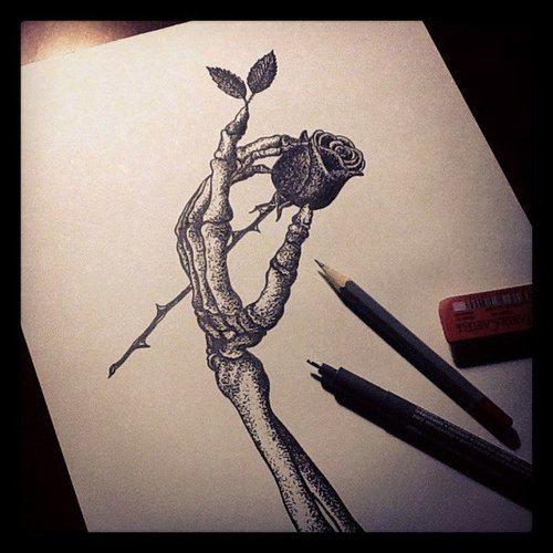 Drawn rose awesome Drawing Геворкян Rose hand Кристине