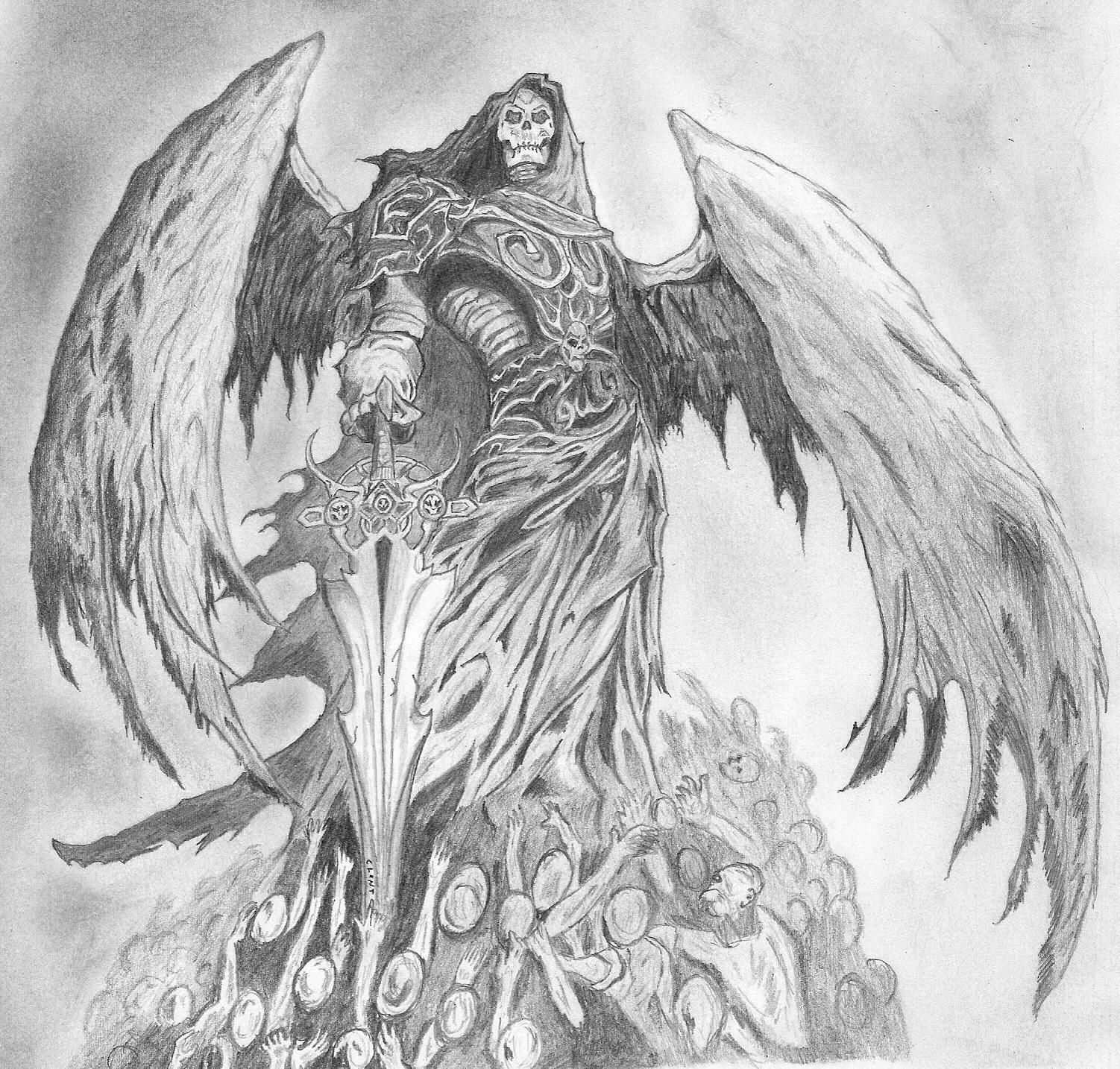 Drawn sleleton angel Drawing drawings of of Angel