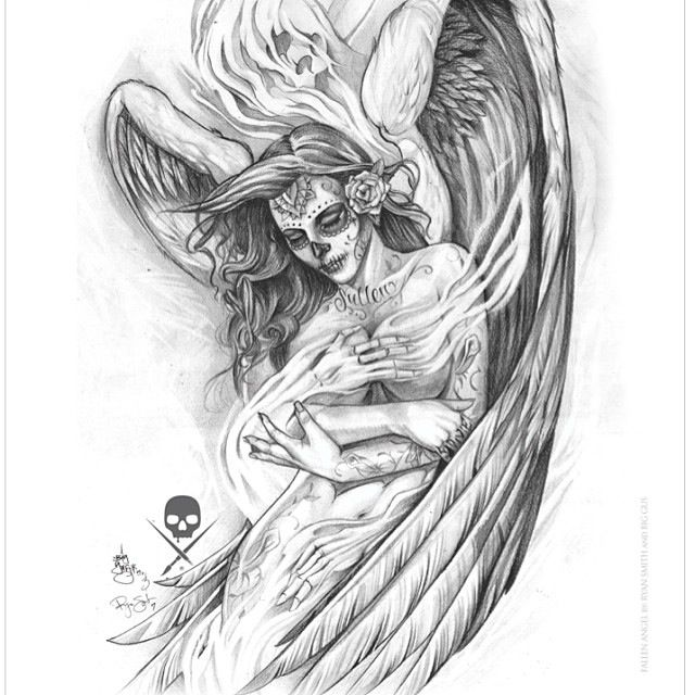 Drawn skeleton angel Pin Sugar 428a663013826800bf9ac3ac9c50993b jpg 640×640