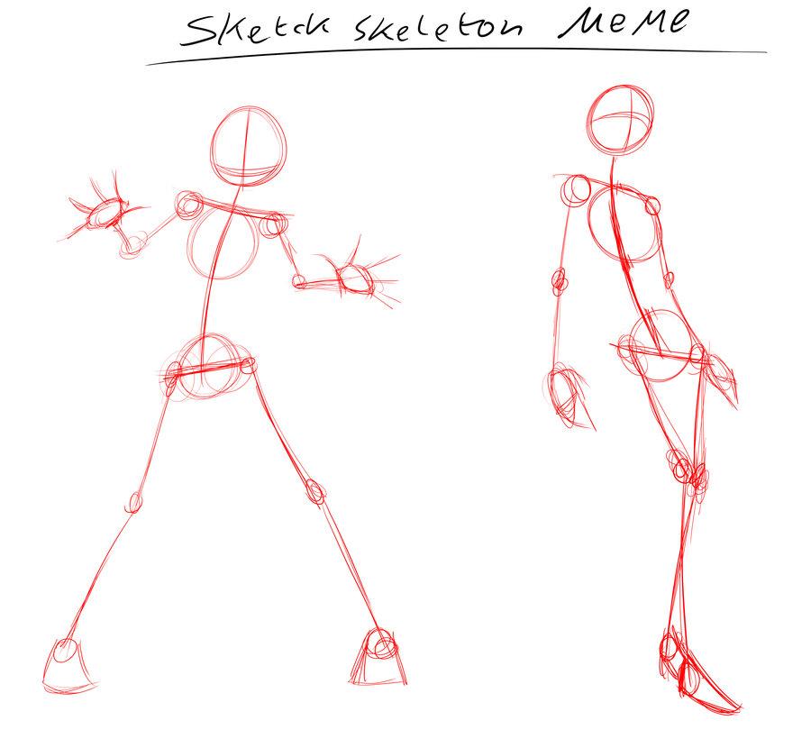 Drawn skeleton anime  skeleton anime Sketch Pinterest