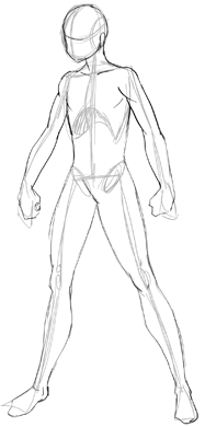 Drawn skeleton anime Drawing  Male with skeleton