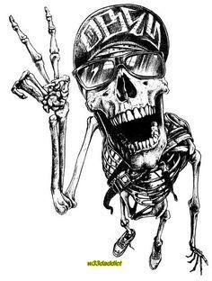 Drawn sleleton awesome Cool skull #420 Pinterest #Skeletons