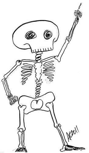 Drawn skeleton dancing Skeleton Drawing wednesday Printable Pages