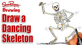 Drawn skeleton dancing Step drawing tutorial a YouTube