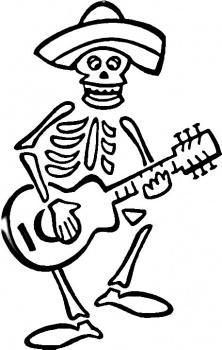 Drawn skeleton dia de los muertos Los de to Do Make