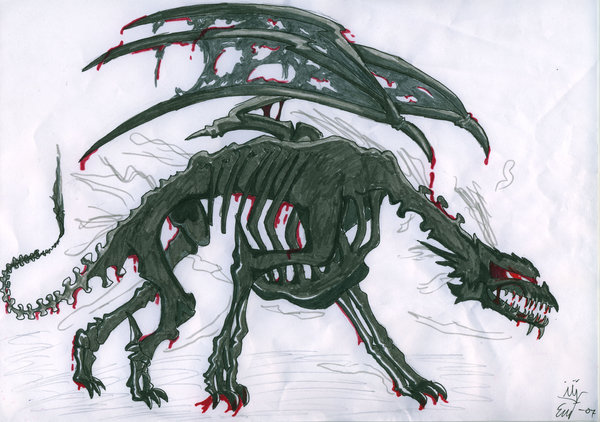 Drawn sleleton dragon Dragon DeviantArt Browse Art Cybermas
