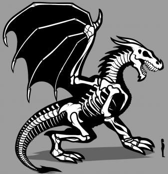 Drawn sleleton dragon 394 on tutorials Pinterest images