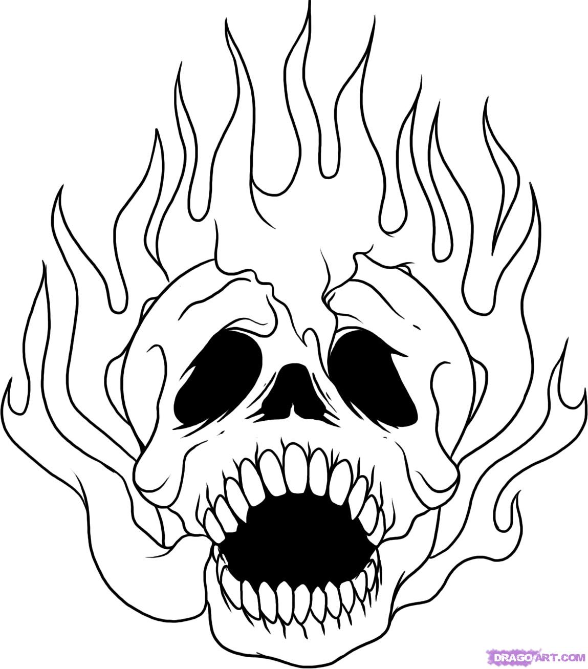 Drawn ssckull flame Skull how to Culture Step