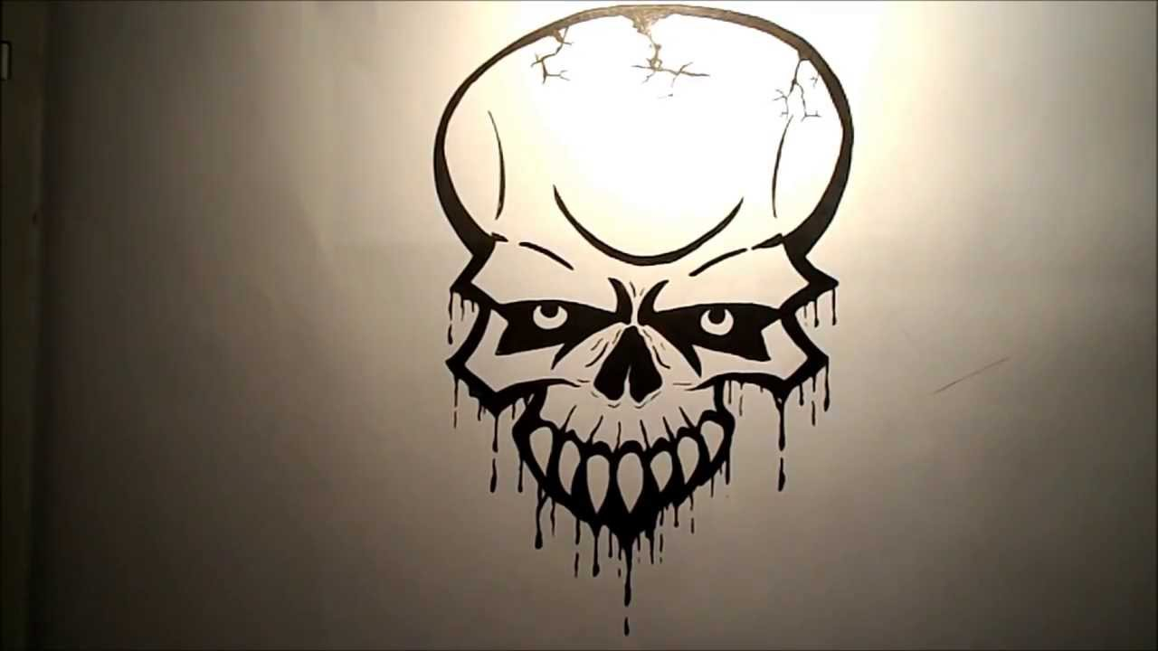 Drawn skull epic A How draw How a