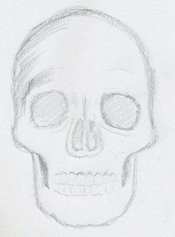 Drawn sleleton easy Skull to what+to+draw Simple Pinterest