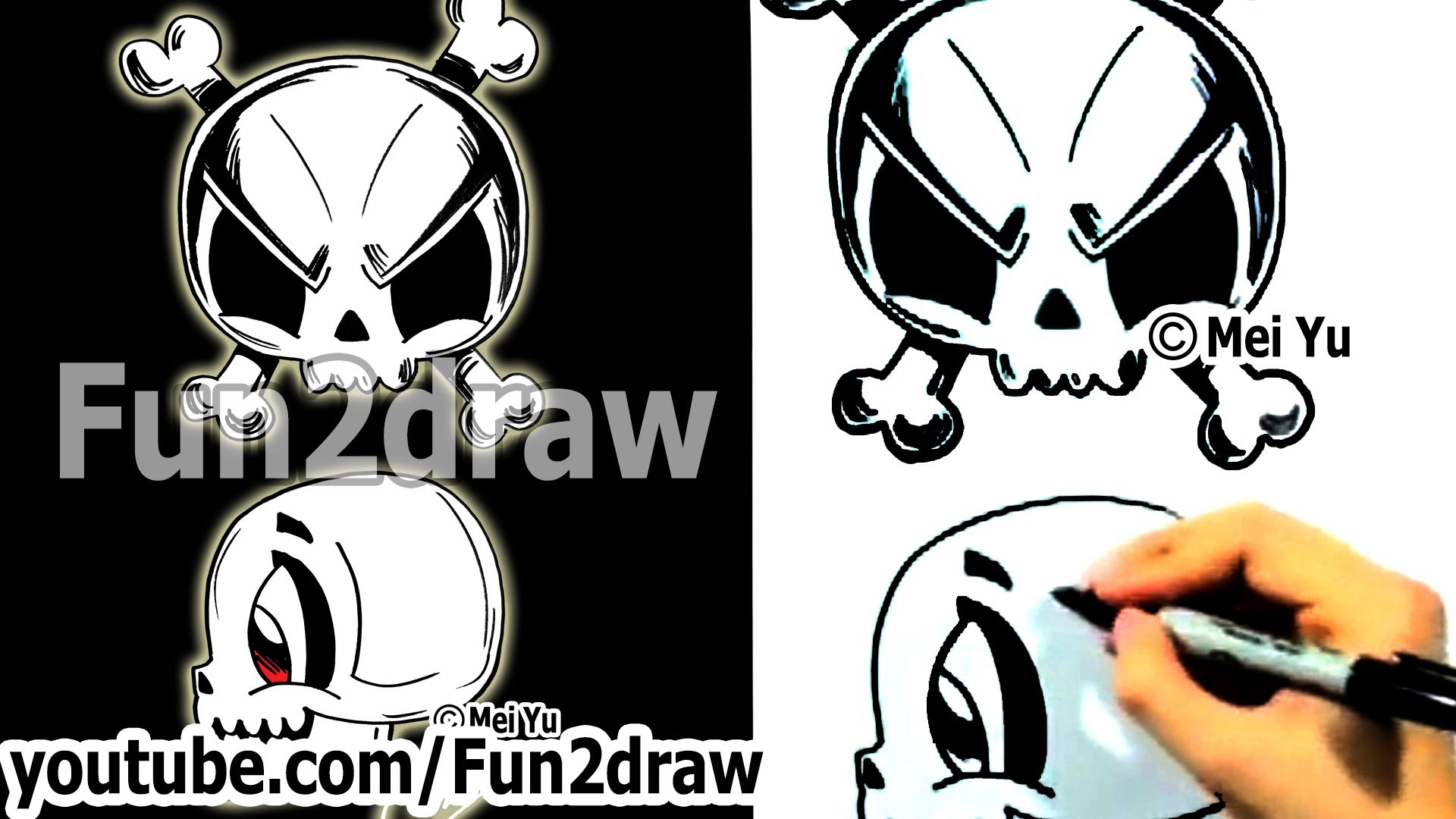 Drawn skull fun 2 Fun2draw Different to YouTube