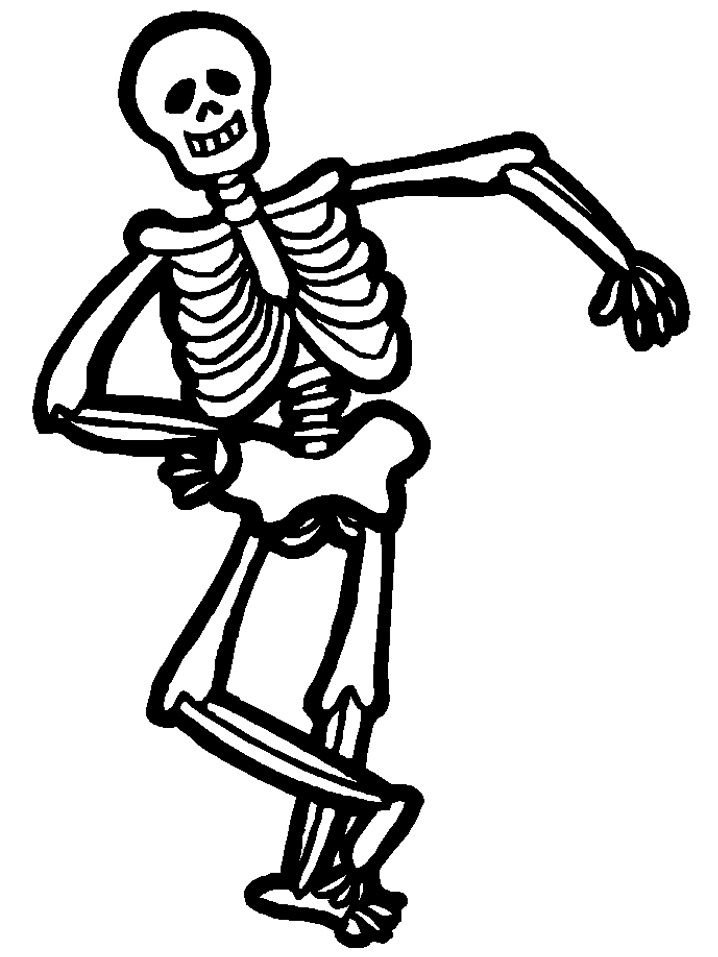 Sleleton clipart silly Halloween on best color 863