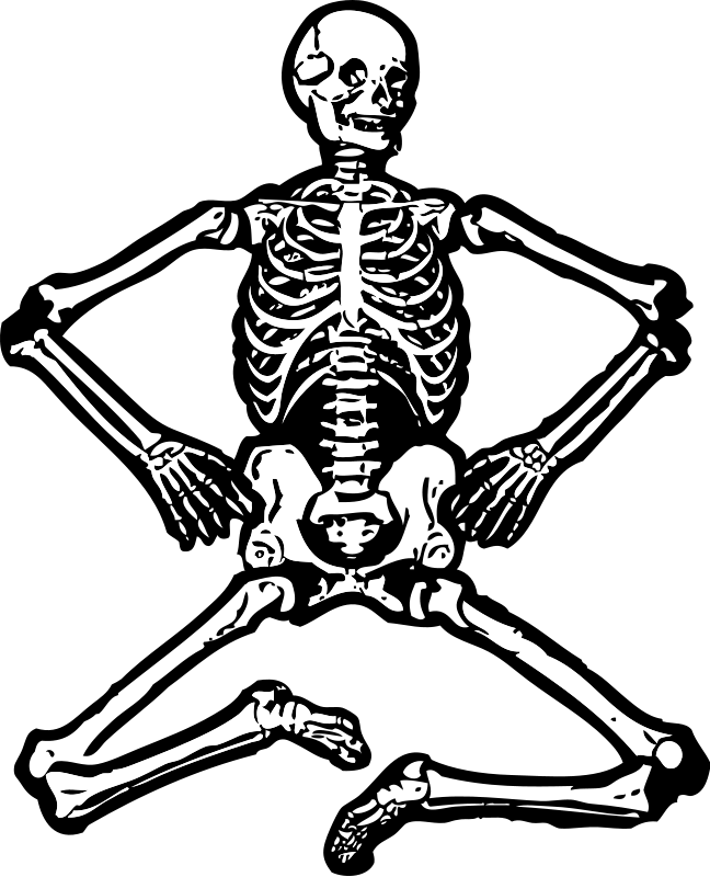 Drawn skeleton funnybones Body Funny Bones and Label