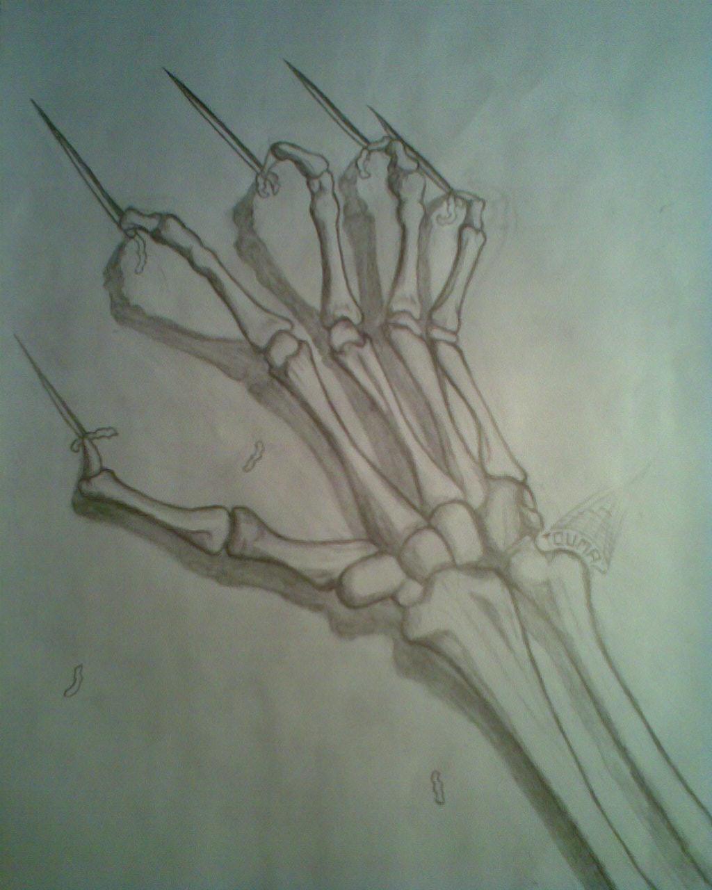 Drawn sleleton hand drawn 2011 Drawing © Drawing Hand