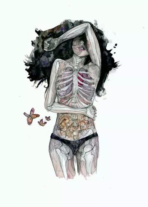 Drawn skeleton heart tumblr  art Pinterest art ♥
