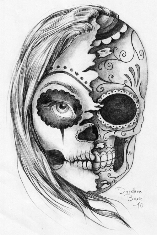 Drawn sleleton heart tumblr (07) Drawing Collections Skull Drawing