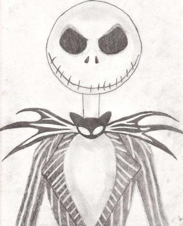 Drawn sleleton jack Of the all skeletons most