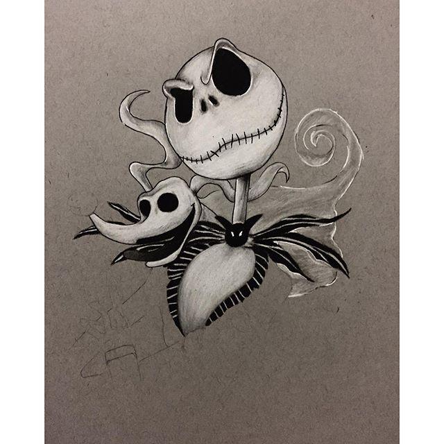 Drawn sleleton jack Drawing on Instagram or skellington