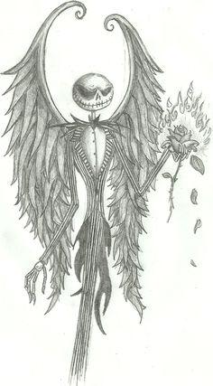 Drawn sleleton jack ~Gothic com Pinteres… Jack Art