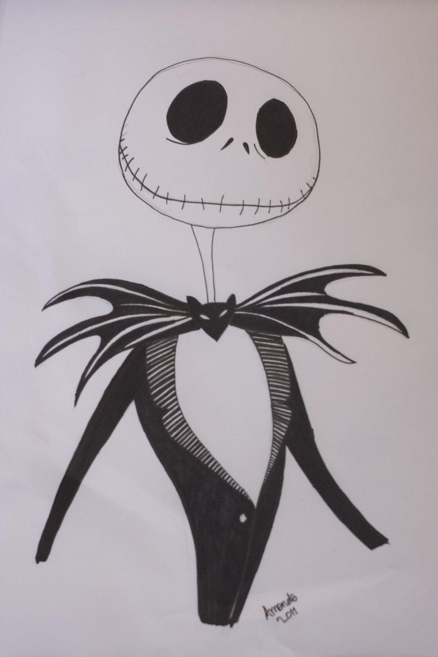 Drawn sleleton jack By Skellington DeviantArt Jack aamandapalmer