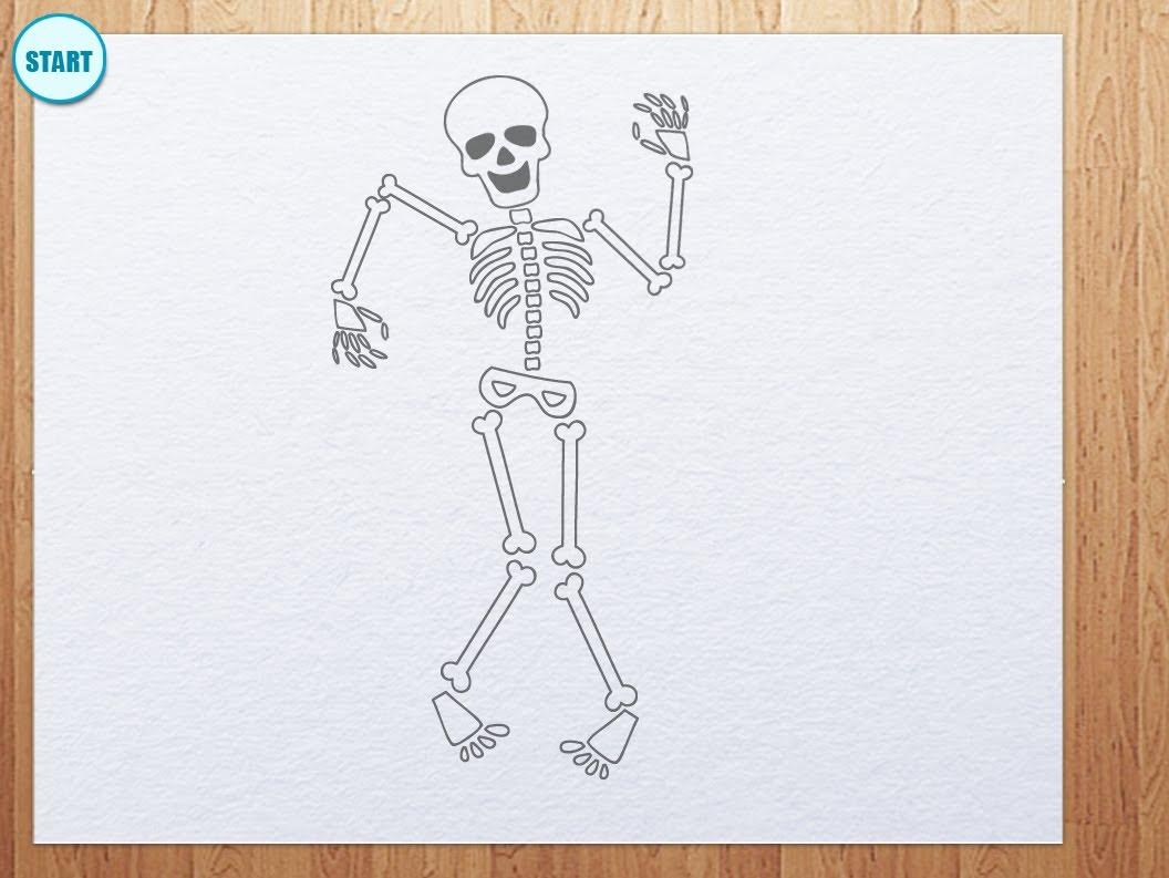 Drawn skeleton cartoon How draw skeleton How skeleton