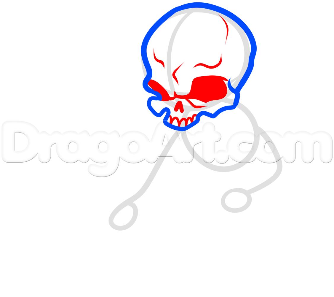 Drawn sleleton little 3 by to step warrior