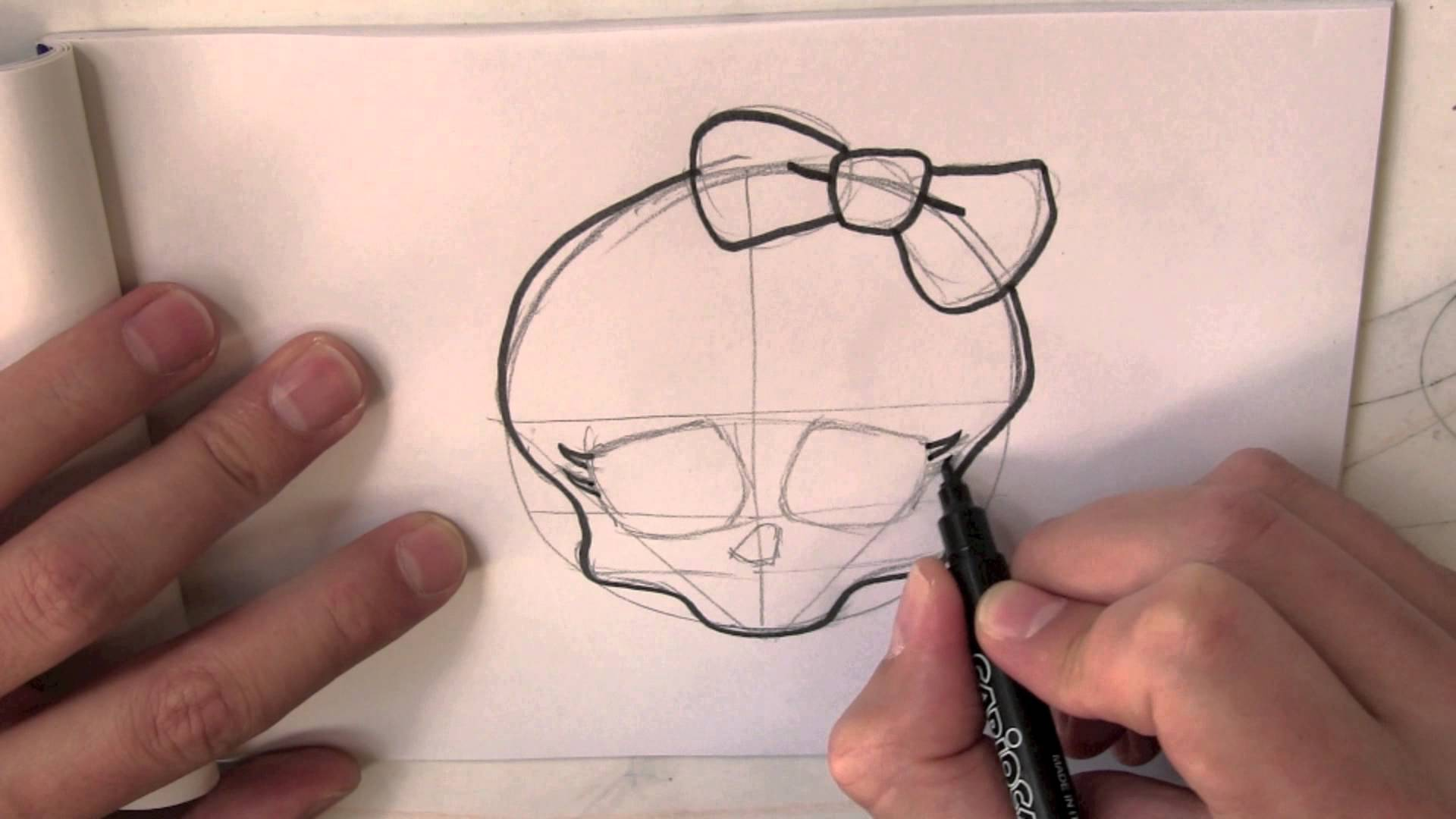 Drawn sleleton little From High Skull the draw