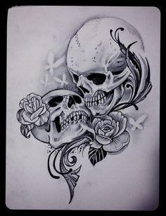 Drawn sleleton love And 77 skeletons this on