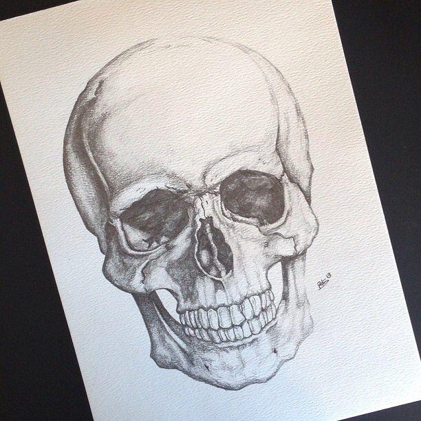 Drawn ssckull skeleton head #derwent #inst_art Pinterest Drawings #lead