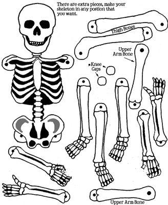 Drawn sleleton printable halloween (otherwise brads)