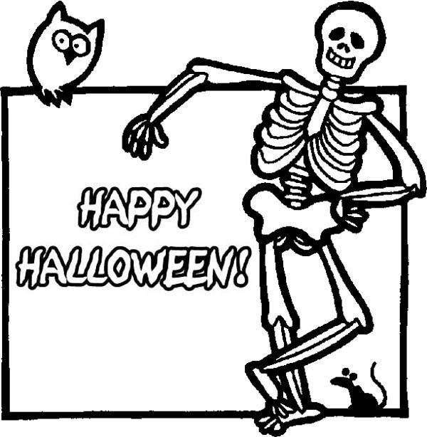 Drawn sleleton printable halloween Halloween Pages Festival (12) Skeleton