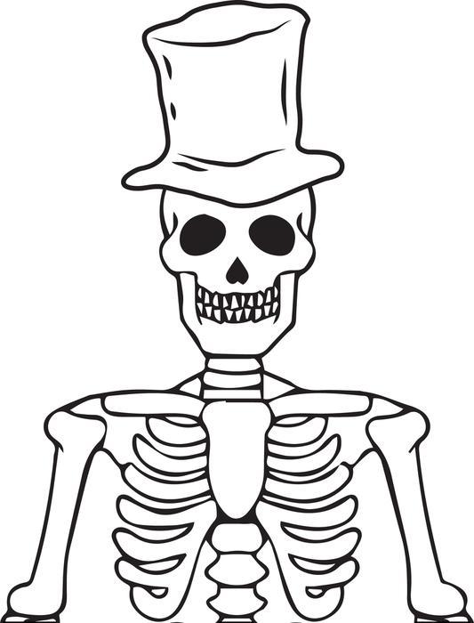 Drawn sleleton printable halloween Kids for You for that's