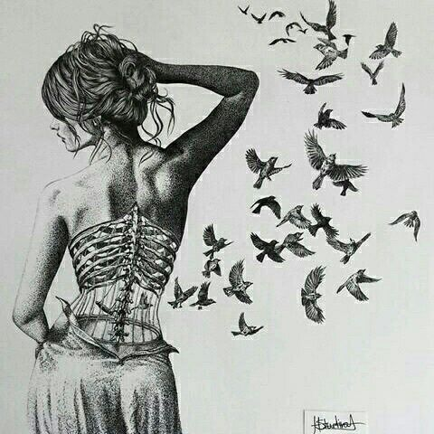 Drawn sleleton sad Ideas broken art heart art