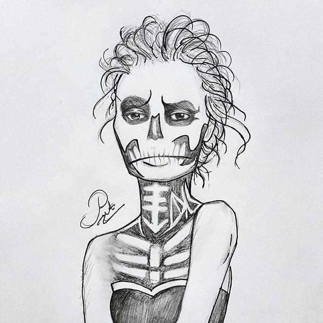Drawn sleleton sad Skeleton Ms class=