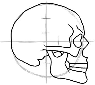 Drawn skull profile Free How Drawings Art Easy