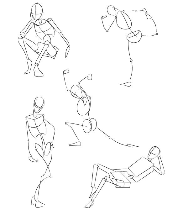 Drawn head basic Skeleton can of as Basics: