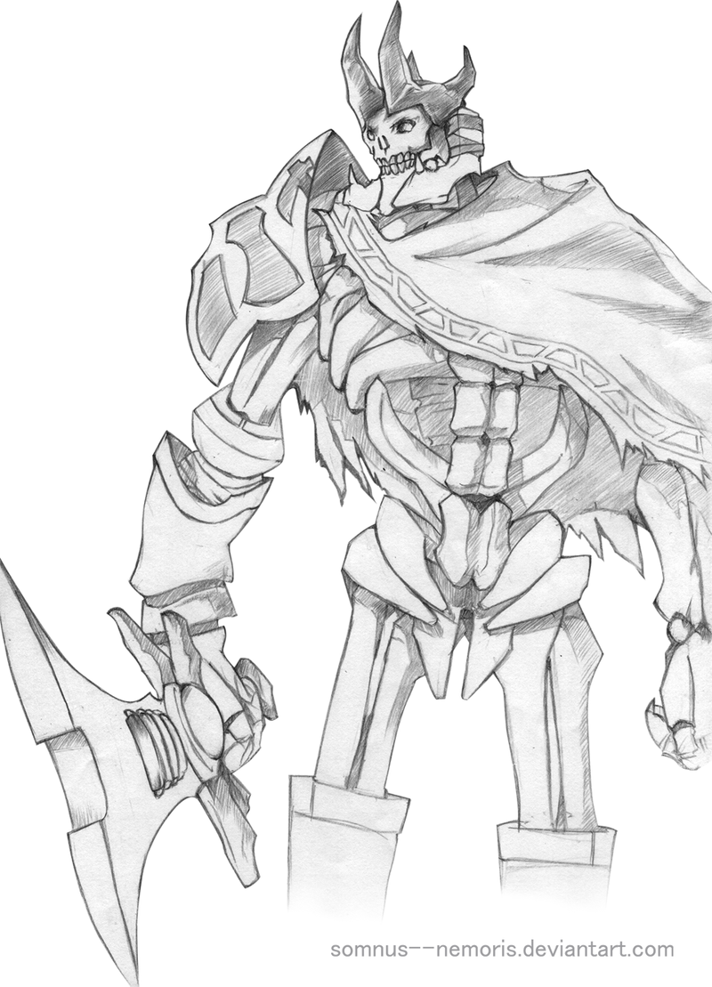 Drawn sleleton skeleton king NemoriS on king :