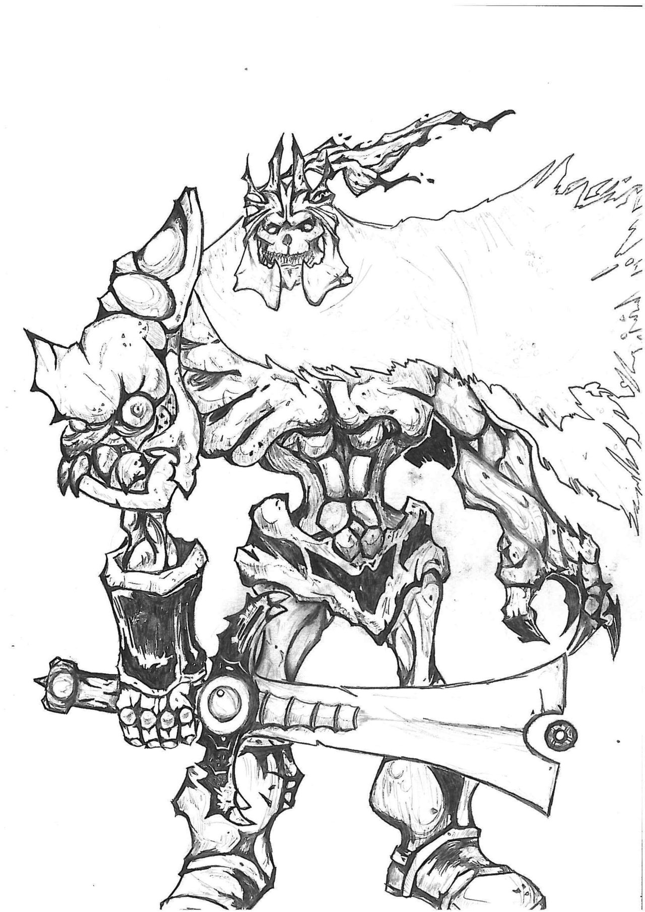 Drawn sleleton skeleton king King Art by Spikkelnator Fan