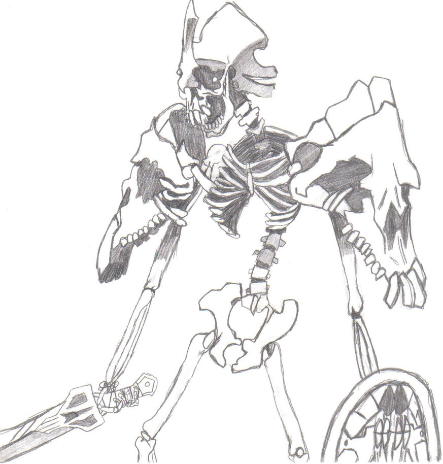 Drawn sleleton skeleton knight Deathaphedimine DeviantArt on Knight by