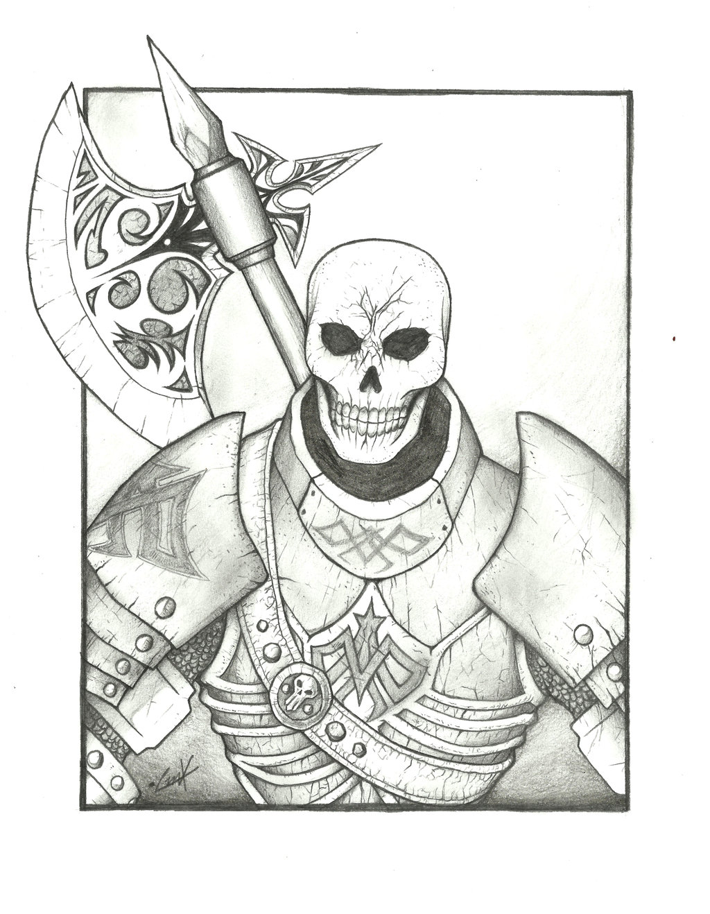 Drawn sleleton skeleton knight KrumpZero Knight Skeleton Knight by