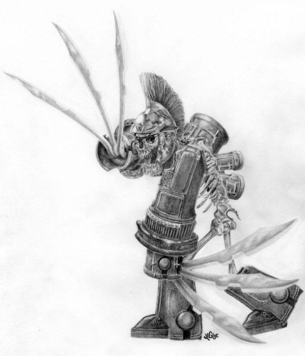 Drawn sleleton skeleton knight A fingered sword art /