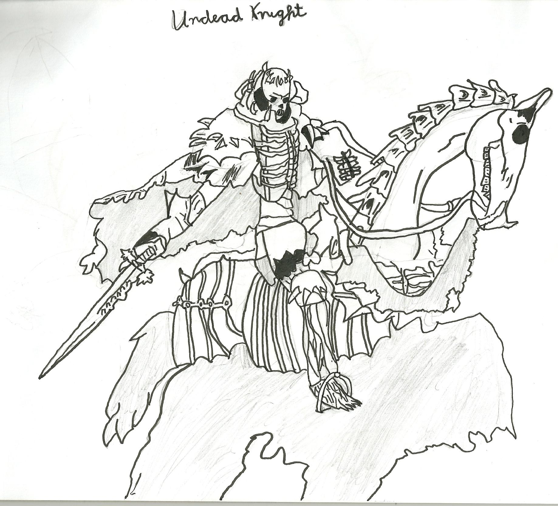 Drawn sleleton skeleton knight © Dec 2017 Knight Drawing