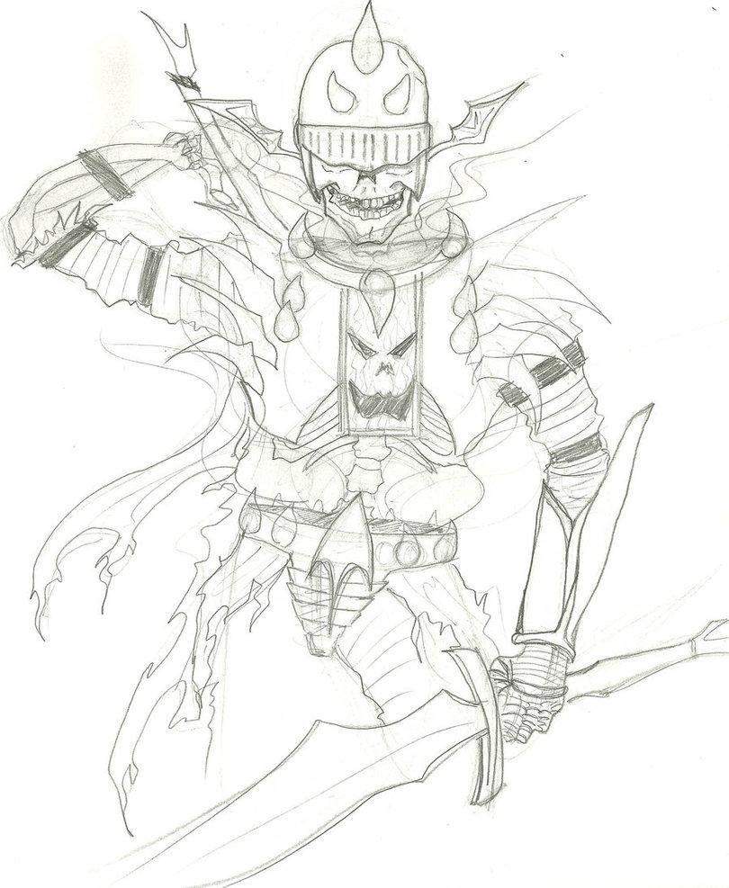 Drawn sleleton skeleton knight Knight Andrew by knight by