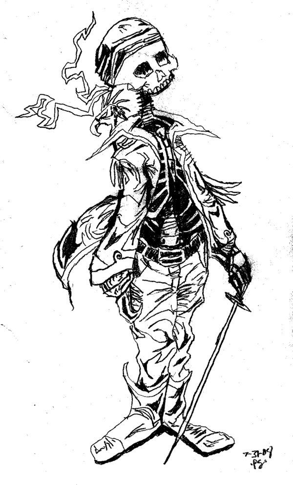 Drawn sleleton skeleton pirate Pevan by Skeleton by Pirate