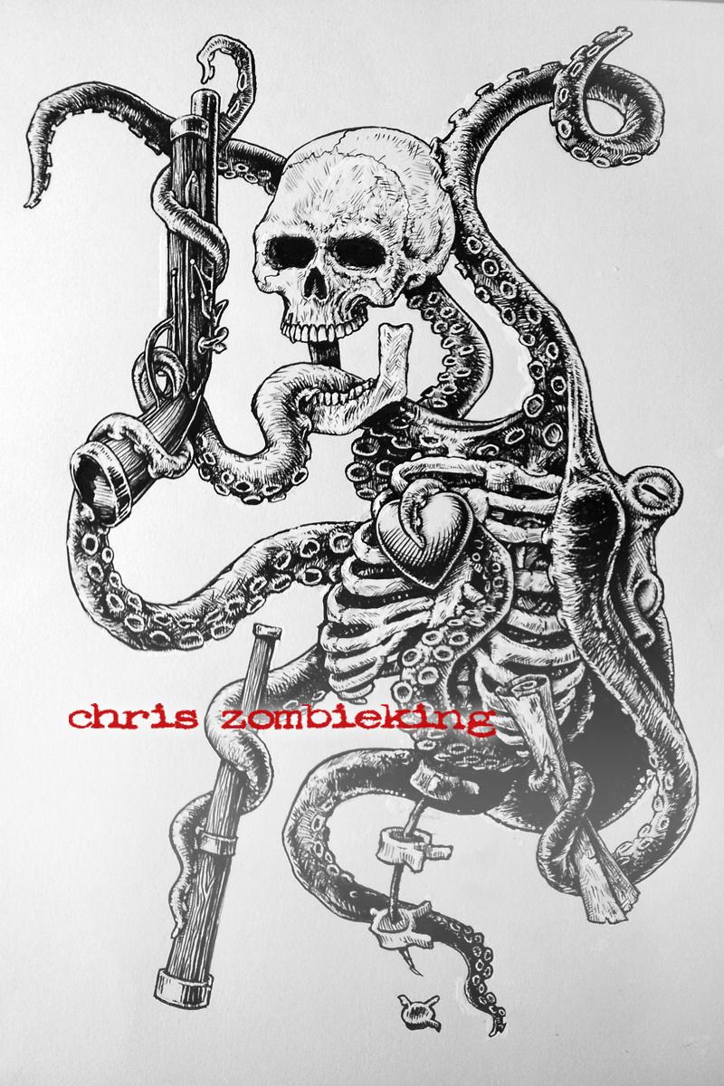 Drawn sleleton skeleton pirate GTFO or brainzzz of this