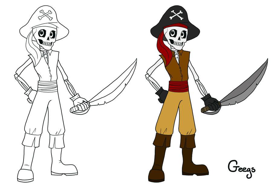 Drawn sleleton skeleton pirate Pirate Skeleton DeviantArt by Pirate