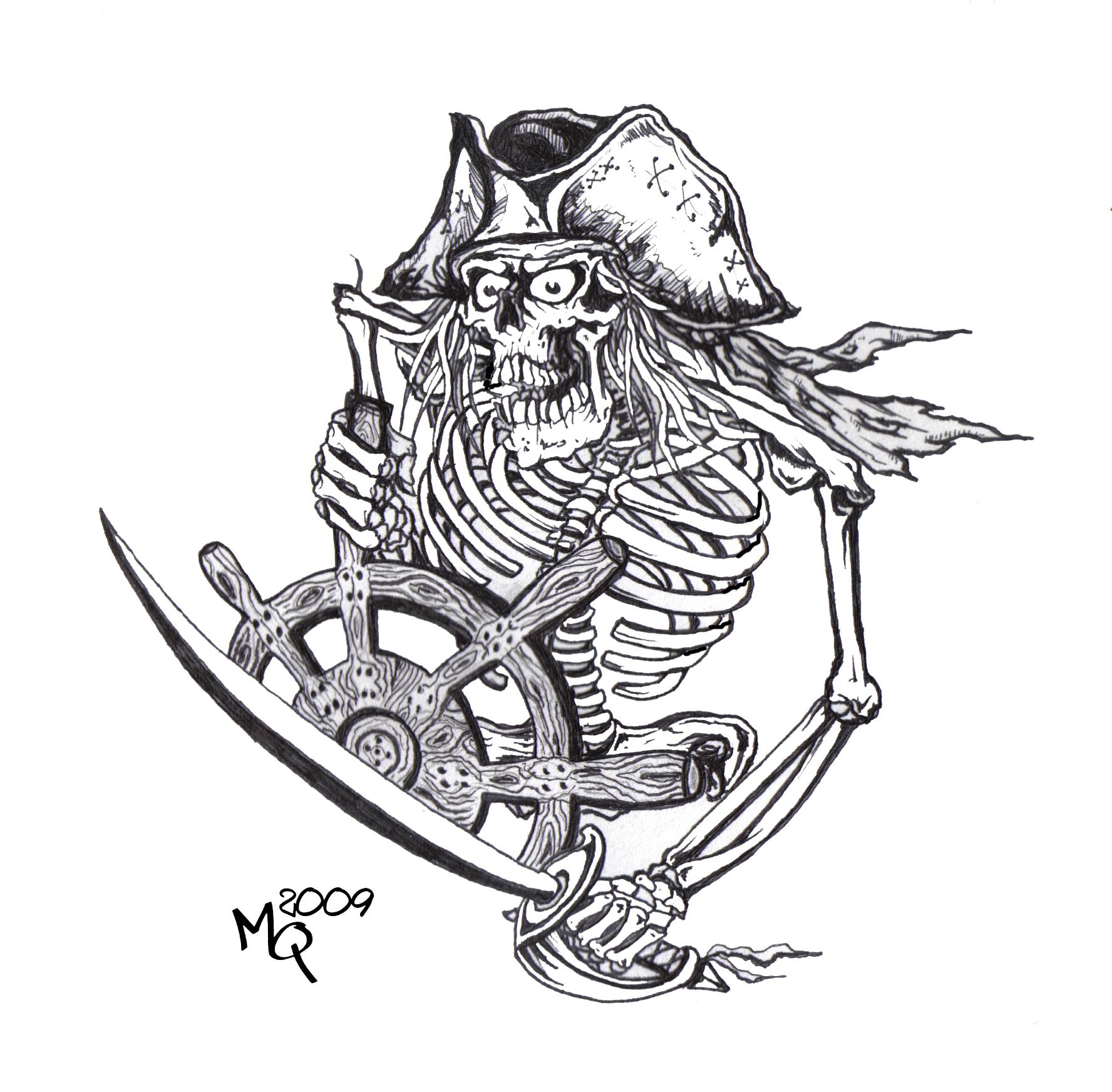 Drawn sleleton skeleton pirate By Helm QUINTdesigns at Skeleton