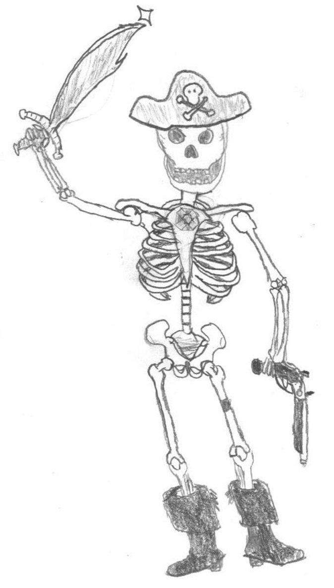 Drawn sleleton skeleton pirate 2xN by Skeleton by Pirate