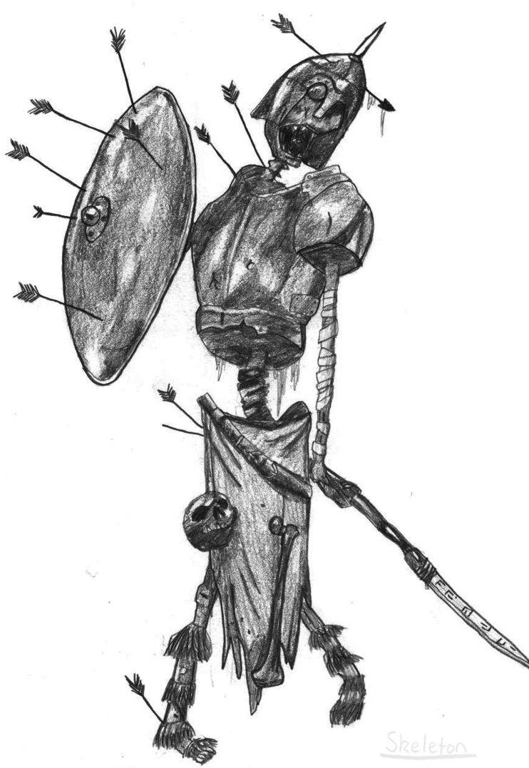 Drawn skeleton skeleton warrior AfterMath 2 by Doomed Skeleton